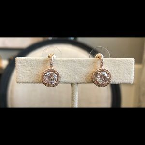 ❤️ NWT 14k Rose Gold Plated w/AAA CZ Earring❤️